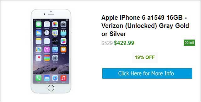 Apple iPhone 6 Unlocked Smartphone